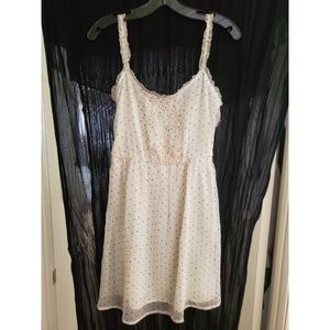 Zara White Polka Dot Dress